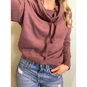 Small, Harlow, vintage-rose purple sweatshirt